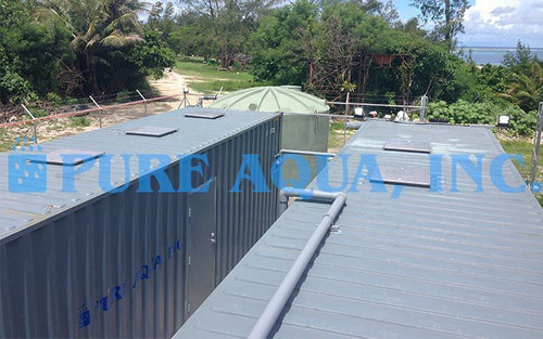 Sistema de Filtragem por Mídia Industrial em Contêiner 216,000 GPD - Palau