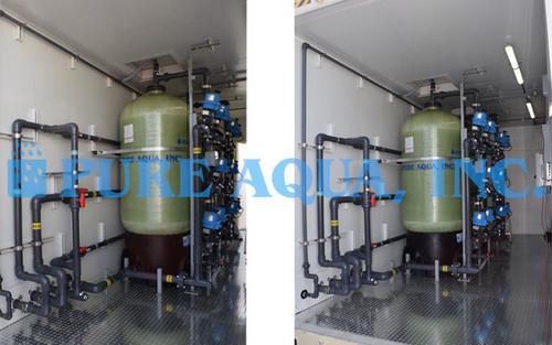 Filtragem Duplamente Alternada por Areia Verde com Componentes NSF para Redução de Ferro - 60 GPM - EUA