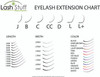 Eyelash Extension Size Chart