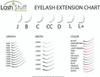 Eyelash Extension Size Chart