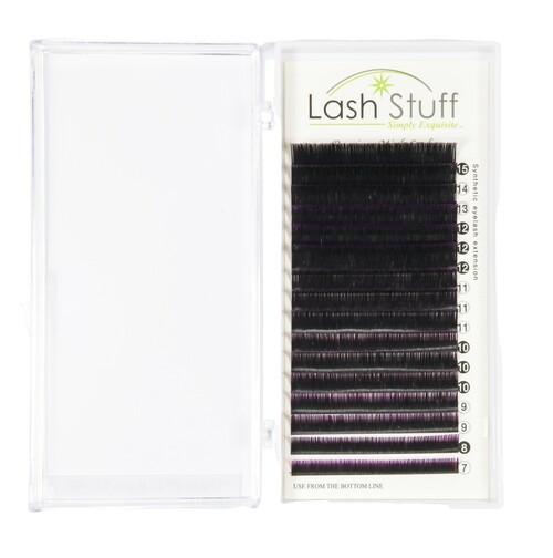 Purple Ombre Eyelash Extensions by Lash Stuff