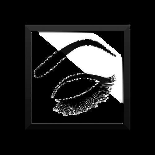 Eyelash Framed Poster LashStuff.com