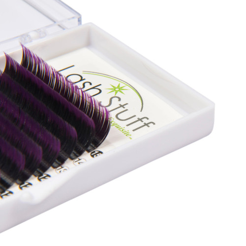 Purple Ombre eyelash extensions