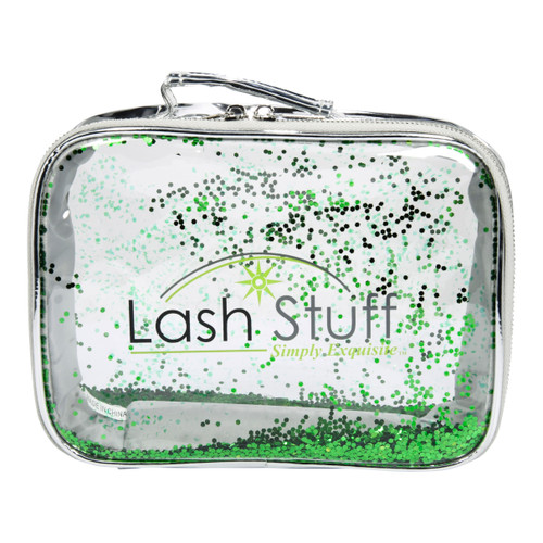 Silver Glitter Cosmetic Bag by Lash Stuff