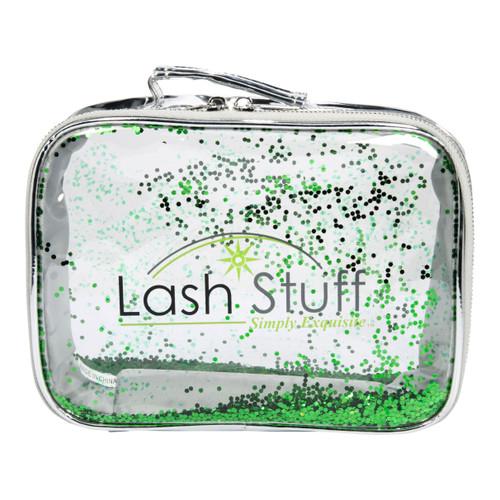Silver Glitter Cosmetic Bag by Lash Stuff