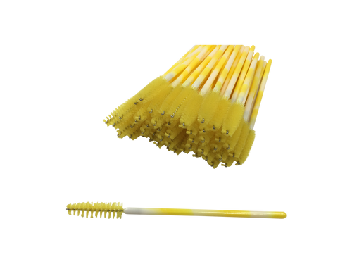 Yellow Swirl Mascara Brushes