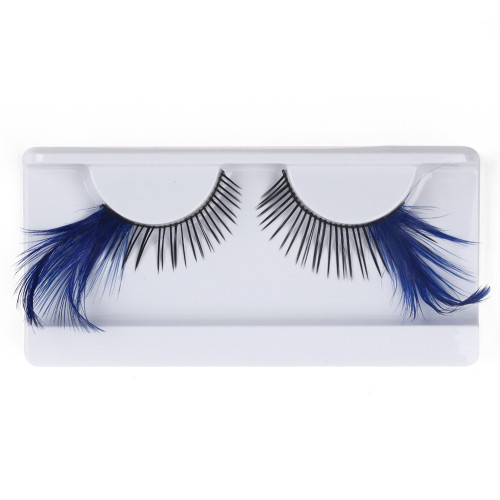 Dark Blue Feather False Strip Eyelashes by Lash Stuff
