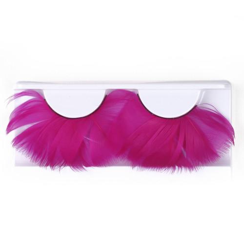 Pink Feather False Strip Eyelashes by Lash Stuff
