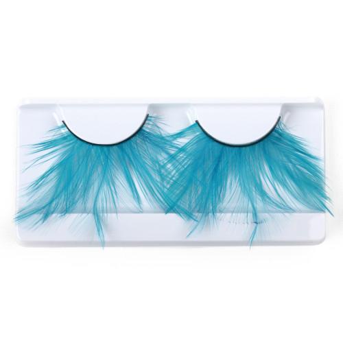 Teal Feather False Strip Eyelashes by Lash Stuff