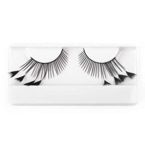 Black Feather False Strip Eyelashes by Lash Stuff