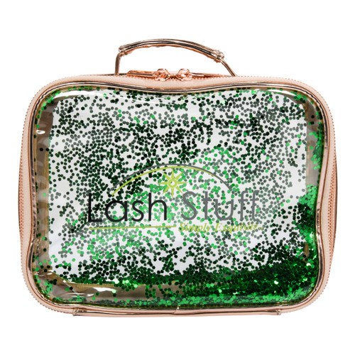 Rose Gold Glitter Cosmetic Bag by Lash Stuff