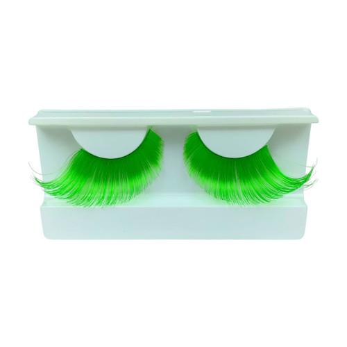 Green False Strip Eyelashes by Lash Stuff