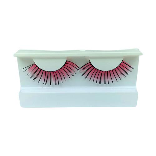 Pink/Black False Strip Eyelashes by Lash Stuff