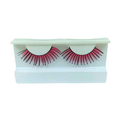 Pink/Black False Strip Eyelashes by Lash Stuff