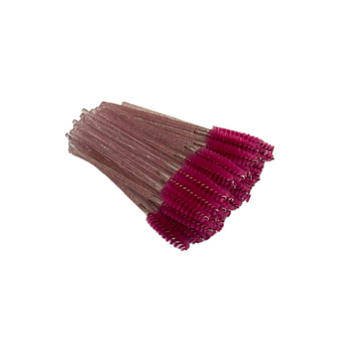 Hot Pink Glitter Mascara Brushes