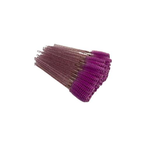 Purple Glitter Mascara Brushes