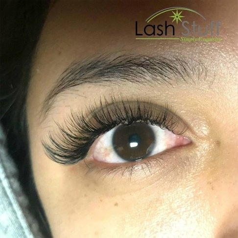 Photo of woman wearing eyelash extensions