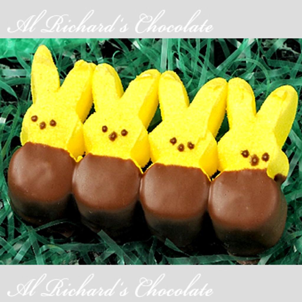 4 Chocolate Dipped Marshmallow Bunnies