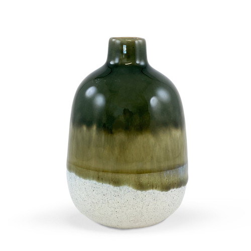 Mojave Glaze Green Vase