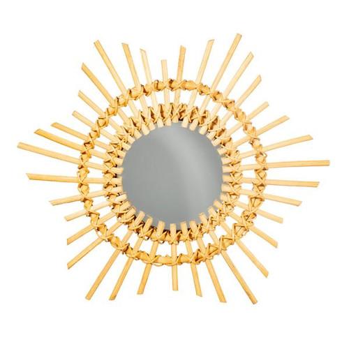 Mini Rattan Starburst Mirror