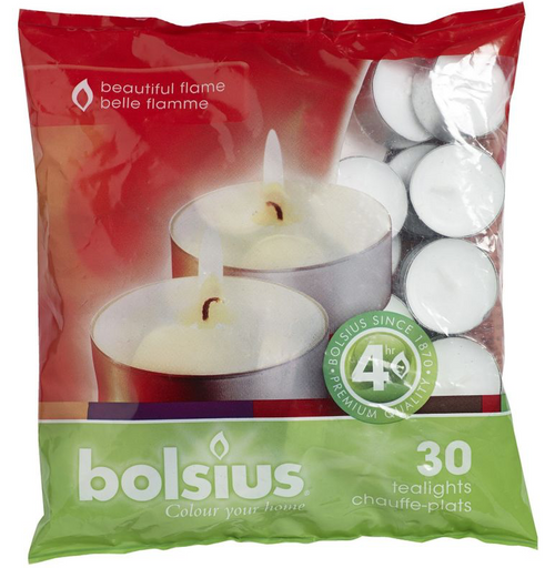 Pack of 30 Tea-Light Candles