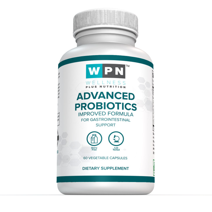 Advanced Probiotics - Improved Formula for Gastrointestinal Support | 60 vegetable Capsules