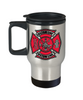 Custom Full Color Maltese Cross Stainless Steel Travel Mug