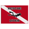 Rescue Diver Flag Decal