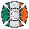 Irish Flag Distressed Maltese Cross Decal