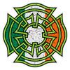 Celtic Irish Flag Distressed Maltese Cross Decal