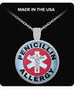 Penicillin Allergy Medica Charm Necklace