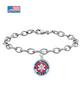 Blood Thinner Alert Medical Charm Bracelet