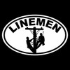 Linemen Oval Decal