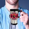 Wildland Firefighter with Wildland Bear Stainless Steel Travel Mug