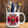 Wildland Firefighter Maltese Cross with Wildland Bear 11 oz. Black Coffee Mug