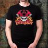 Firefighter with Skull Black T-Shirt