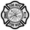 Fire Wife - Fire Mom Maltese Cross Decal