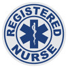 Round Registered Nurse with Star of Life Decal