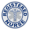 Round Registered Nurse with Caduceus Decal