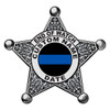 Custom Memorial Sheriff Badge Decal
