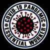 Round Covid-19 Essential Worker Decal
