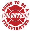 Proud Volunteer Firefighter Maltese Cross Decal