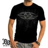 Elite Breed Firefighter Black Silver Foil T-Shirt (THF2070)