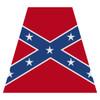 Confederate Flag Helmet Tetra Decal