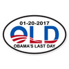 Obama's Last Day Oval Decal