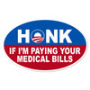 Novelty Obama Honk Oval Decal