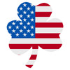 American Flag 3 Leaf Clover Decal