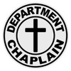 Round Department Chaplain (Cross) Decal