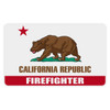 California Firefighter Flag Decal