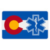 Colorado Flag with Star of Life Reflective Decal